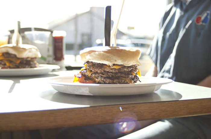1.)  Patty Wagon-OKC. Patty's is proud to serve local, farm raised, hormone and antibiotic free beef patties.  Feeling better about the meat?  Go ahead and throw on a few extra patties for The Quad Burger.