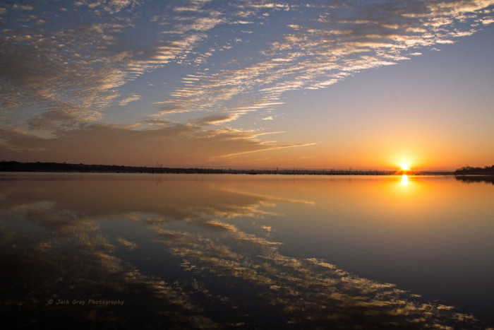 2. Bell Cow Lake-Chandler, OK: Look at the reflections..magnificent.