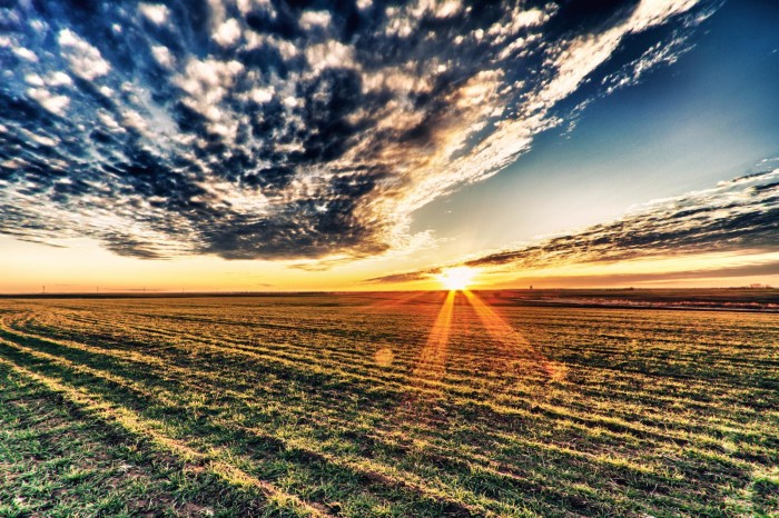 15. Oklahoma: The beauty of the field, the sun and the clouds  is captured perfectly by this teenage photographer, Gagan Moorthy.