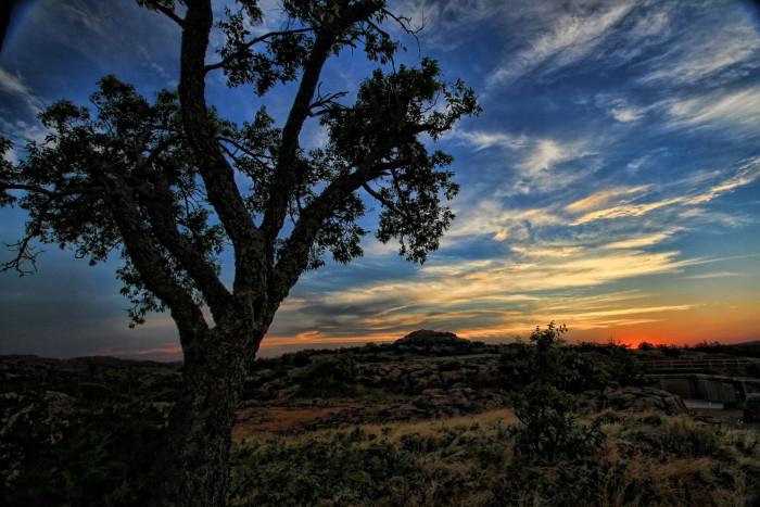 4. Wichita Mountains Wildlife Refuge- Indiahoma, OK: Dramatic landscape, sky and sunset in southwest Oklahoma.