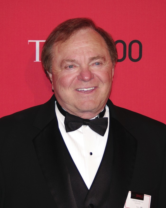 1. Harold Hamm- The richest person in Oklahoma was #96 on the Forbes list with a net worth of 12.2 billion.  Hamm is the Chairman and CEO of Continental Resources.