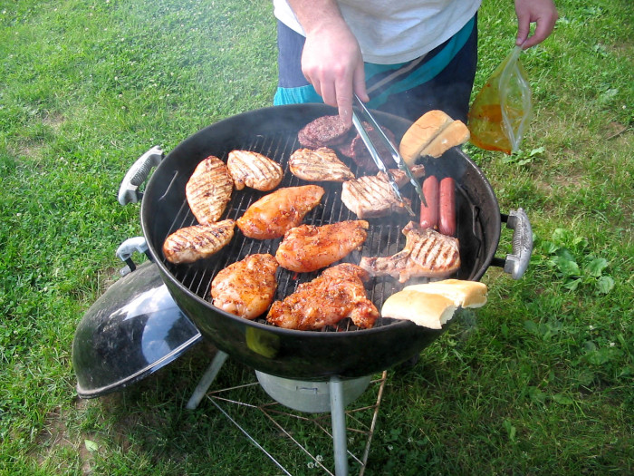 1. Barbecue around the grill with friends and family.
