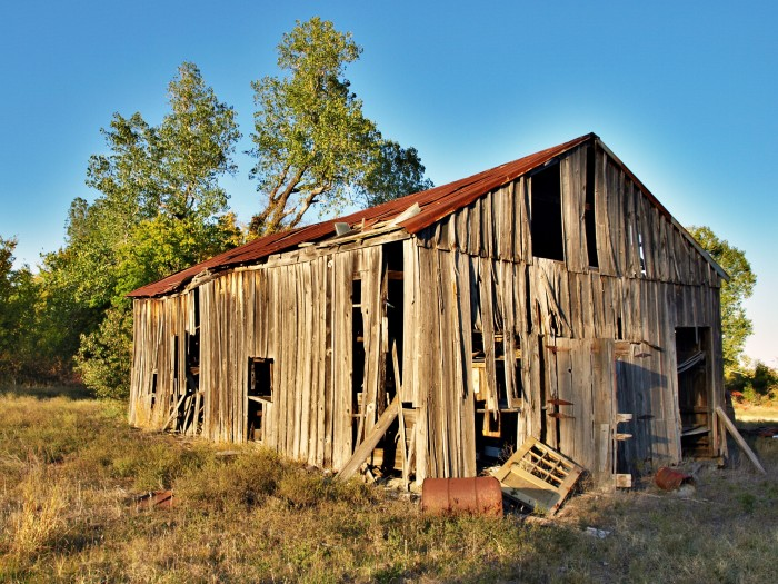3. This old barn is barely standing on the south end of Collinsville.