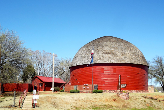 4. This historic Route 66 landmark in Arcadia, The Round Barn, was built in 1898 and restored in 1992.