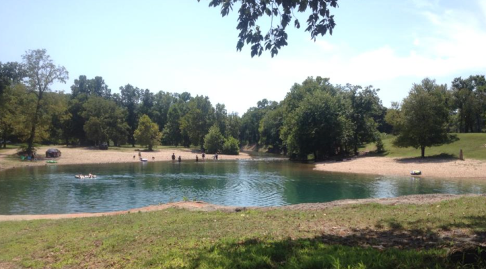 6.) Blue Hole Park-Salina, OK: Bring your water shoes and enjoy the ice-cold spring water that feeds this spot.  The rocks are a little bothersome but the crystal blue water is worth the drive.
