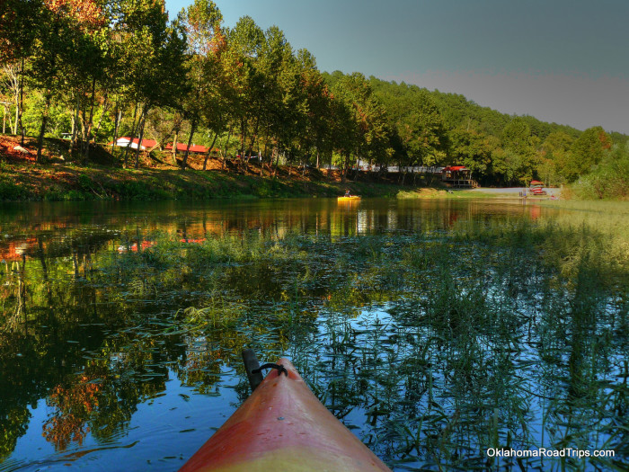 """5.) Illinois River-Tahlequah, OK:  Cool off down the Illinois River on a raft, canoe or kayak. It's a great family activity but be mindful that on the weekends you might encounter some """"party"""" crowds along the way."""