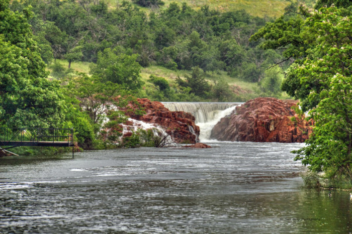7.) Medicine Creek: Bath Lake Swimming Hole- Wichita Mountains. OK.   Although currently closed due to the recent flooding, you can check out the unique Cobblestone architecture that surrounds this water or take a swim in the other lakes in the park.