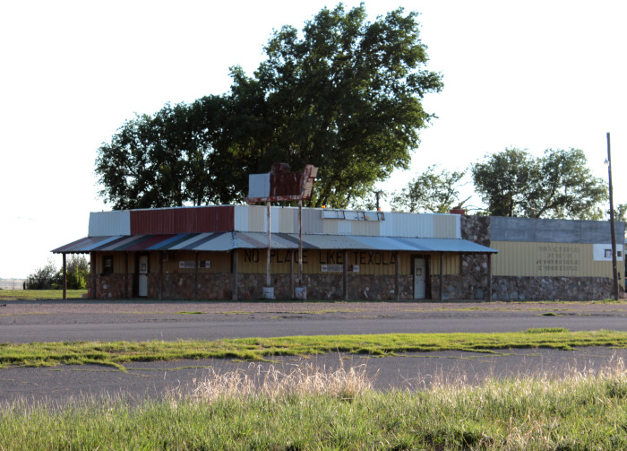 5. Texola- The town jail, bar and gas station still exist in this desolate ghost town, among a few other structures.  The jail feels eerie and if you walk around Texola, you probably won't see another person...but maybe the town ghost.