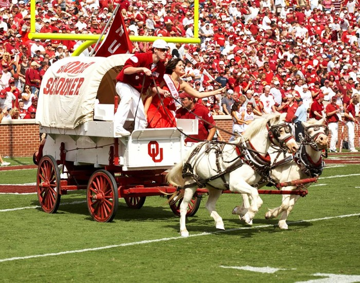 """16.) """"Boomer Sooner""""- Music to the ears of OU fans. If you hear Boomer! You better be ready to shout Sooner!"""