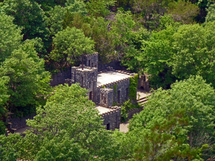 7.) Collings Castle- Davis, OK: When visiting Turner Falls, look for the partially, abandoned castle nestled in the trees.