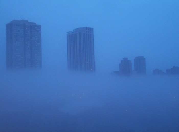 5. These buildings are floating out of the clouds