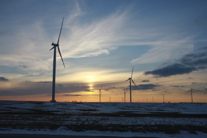 1. This wind farm in Bloomington is breathtaking at sunset