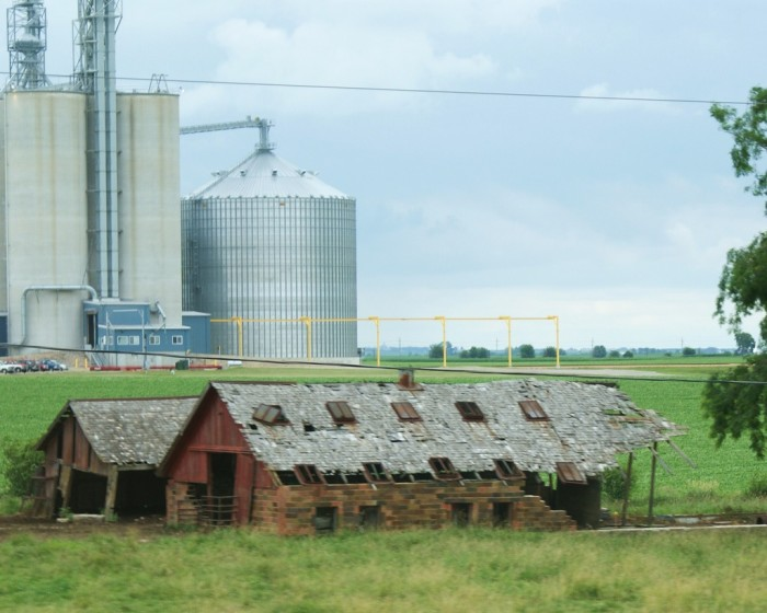 2. Love the juxtaposition of old and new farms in Mendota