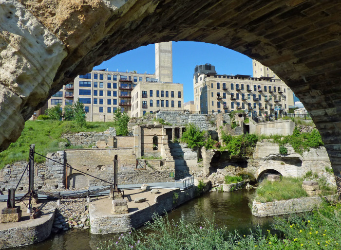 1 Mill Ruins Park in Minneapolis  is gorgeous representation of flour milling history.