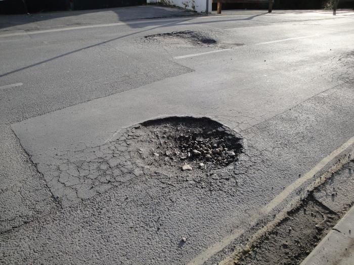 11) Potholes