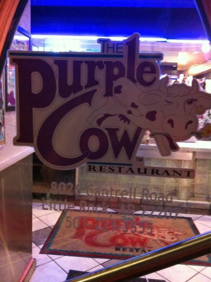 1. Purple Cow: This central Arkansas family favorite has served an excellent diner's menu for years, including its delicious purple vanilla milkshakes!