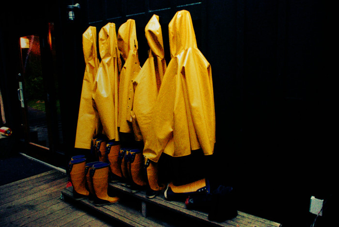 3) They always seem to have a raincoat to match any given occasion.