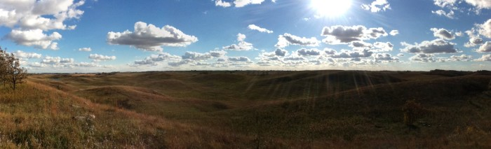 14 Hiking in Glacial Lakes State Park will provide you breathtaking views of the rolling hills covered in wildflowers.