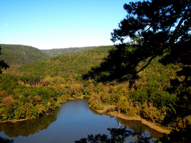 15. Shores Lake: The beach at this 82-acre lake is in the Ozark mountain vacation setting of the Ozark-St. Francis National Forest.