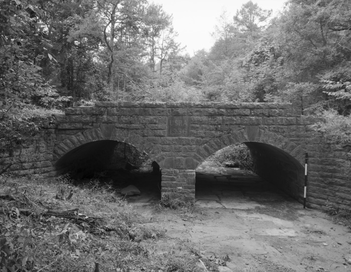 9. Spring Lake Bridge: This small two-span stone arch bridge over Bob Barnes Branch is located at Spring Lake Recreation Area.