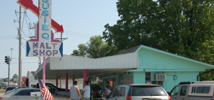 9. Susie Q's: This popular spot in Rogers, Arkansas has been around for over 50 years serving great food and delicious shakes.