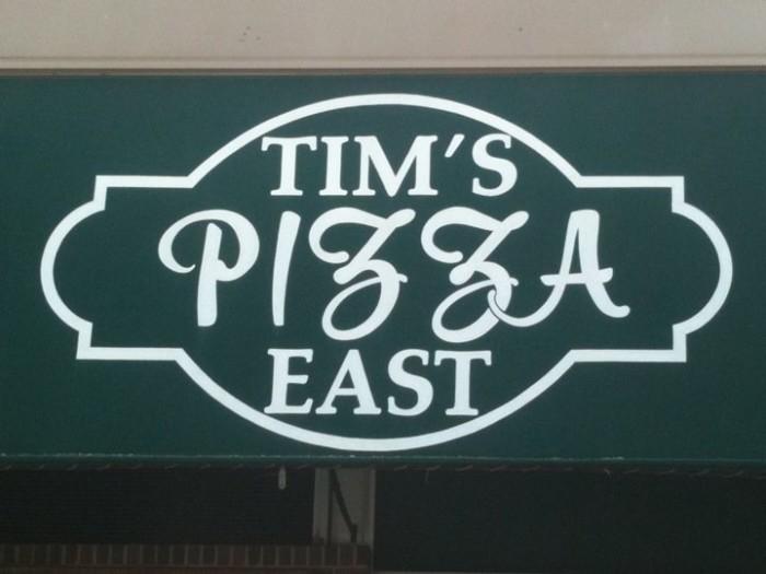 6. Tim's Pizza East