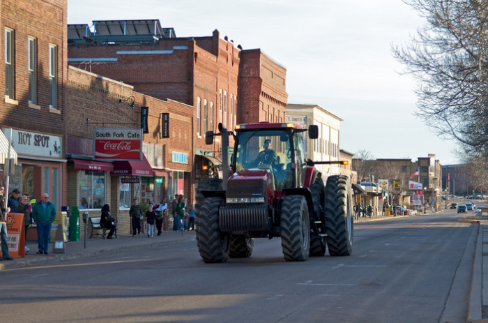 12.Your idea of a traffic jam is five or six cars driving behind a tractor.