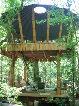 8. Club Florida's Sunrise Oasis Yurt on the Santa Fe River near High Springs provides the perfect tree house, complete with everything you need for the perfect camping trip.