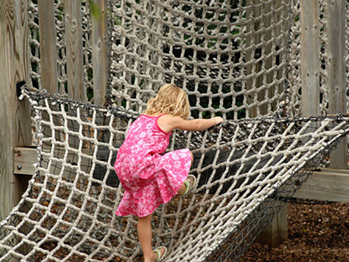 6. French Regional Park in Plymouth has a super cool playground with nets to climb on!