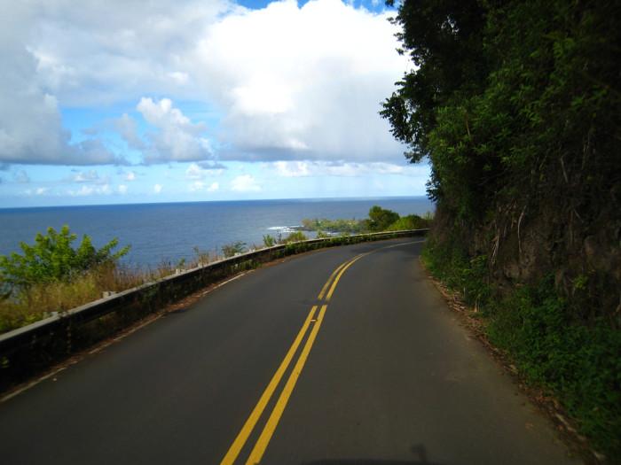1) Drive around the island.