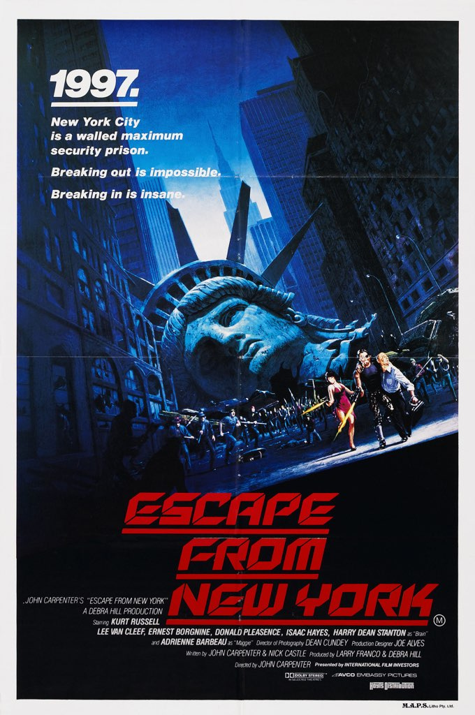 1. Escape From New York (1981)