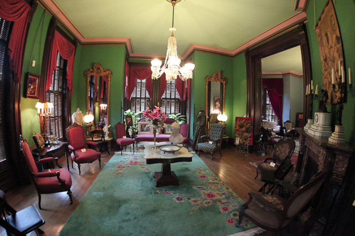Interior of the Vaile Mansion