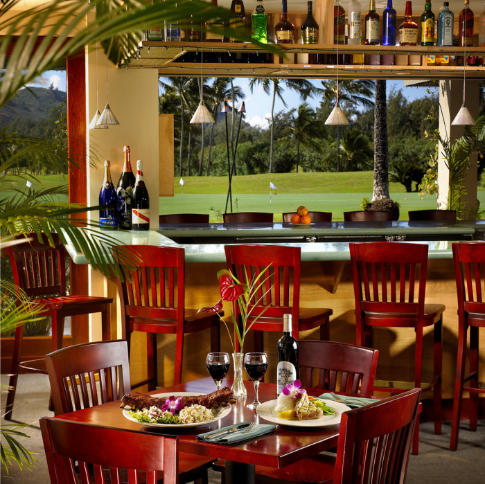 10) Lei Lei's Bar & Grill, located at Oahu's Turtle Bay Resort, sits right on the golf course and is a wonderful blend of casual and sophisticated.