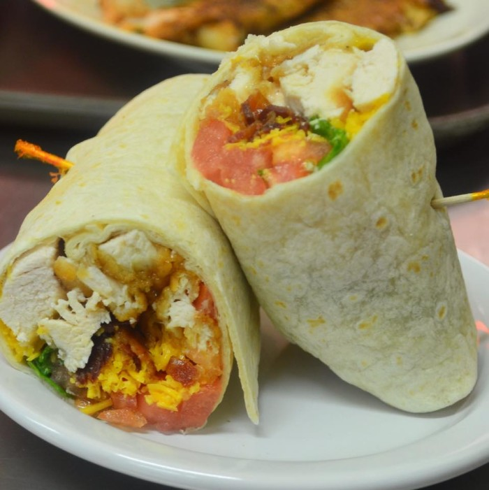 10. Ranch barbaque fried chicken wrap