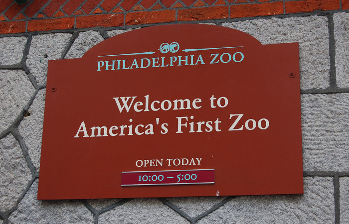 2. The country's first zoo was built in Philadelphia and still operates today.