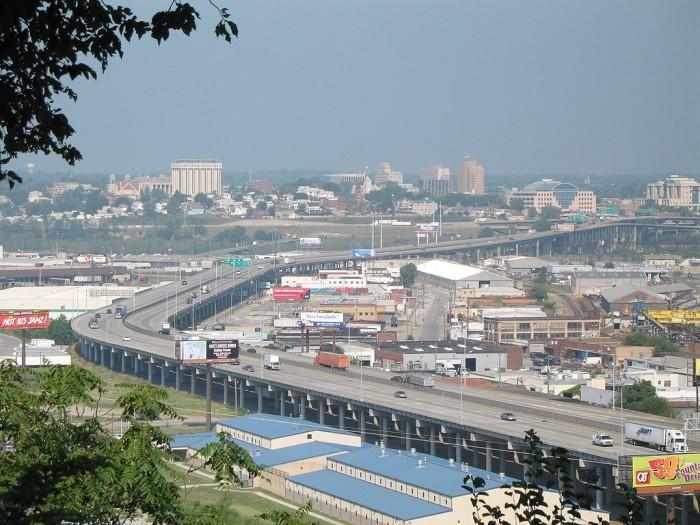 5.) Zooming along I-70 at a whopping 55 MPH