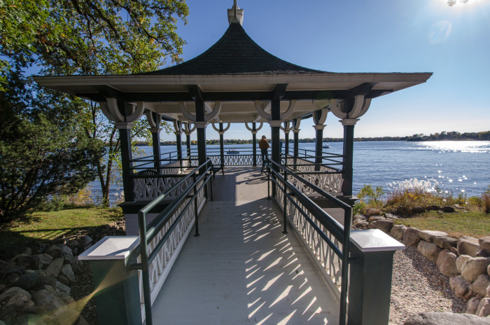 12. If you're going the lake route, try a lakeside gazebo like this one!