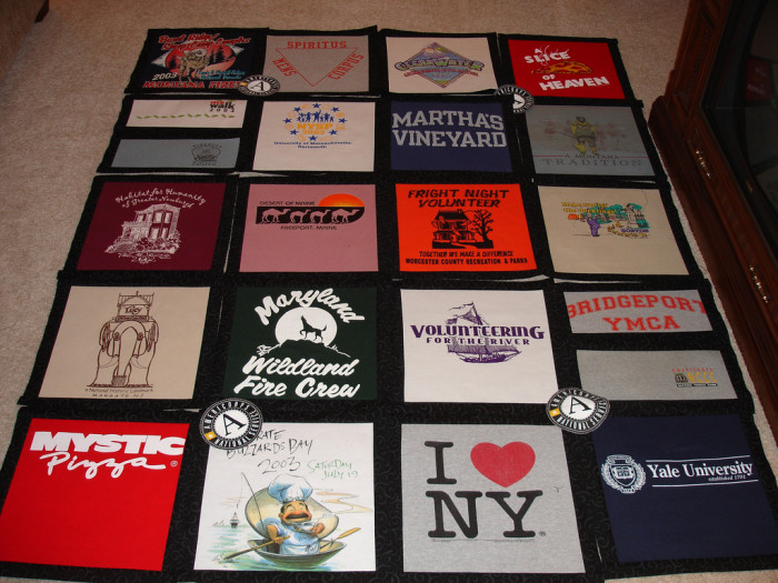 10. A t-shirt quilt, or quilt of some kind