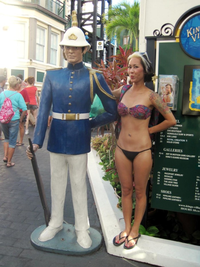 11) Apparently, there is a statute that forbids people in bathing suits from appearing uncovered on Waikiki streets.