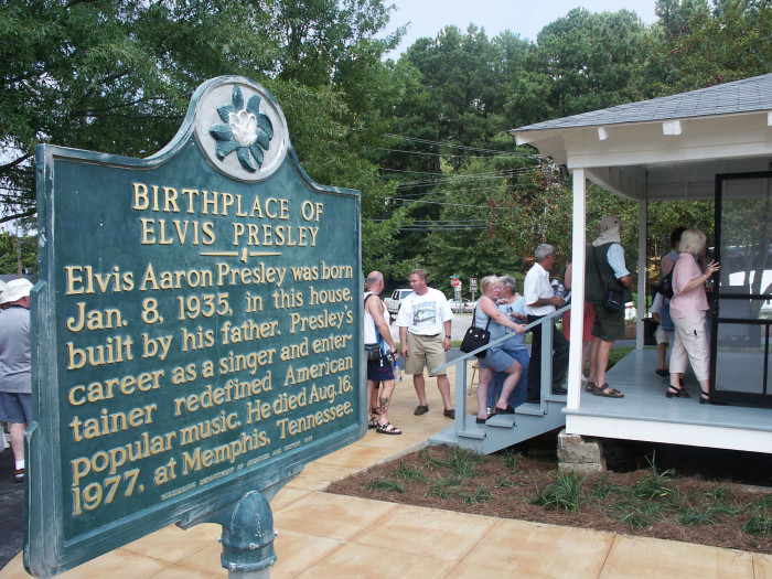 1. Visit the top landmark in the city of Tupelo – the birthplace of Elvis Presley.