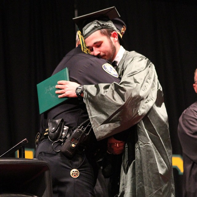 2) That time when a cop from Orange attended a Texas teen's graduation after breaking the news of his parents' death.