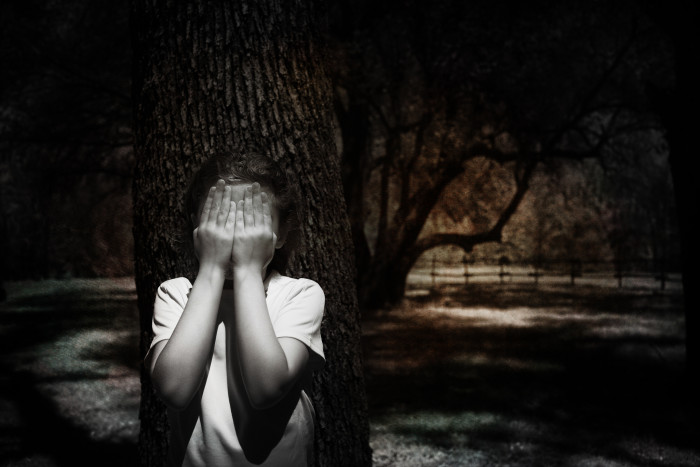 15) Playing a game of hide and seek in the shadowy forest. Ready or not..
