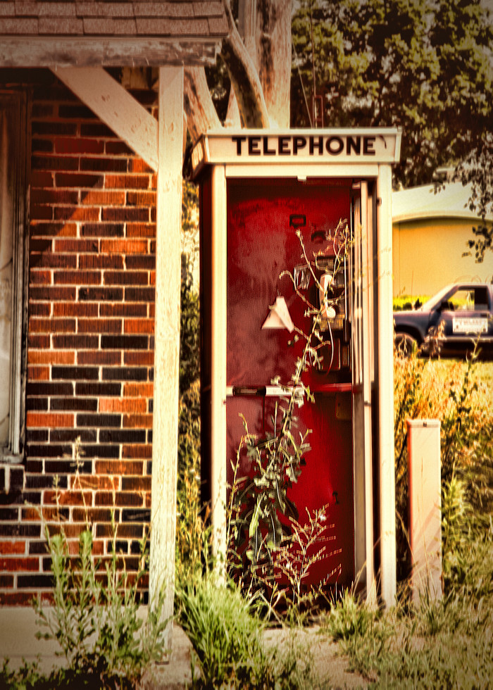 12. Telephone booth in Lancaster.