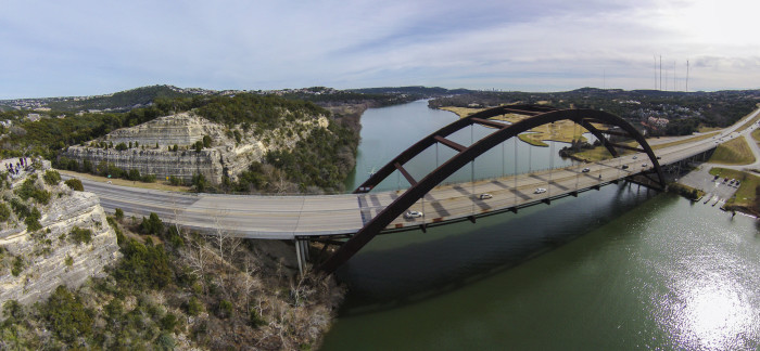 5) Isn't this aerial shot of the Pennybacker Bridge in Austin just breathtaking?!