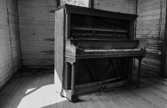 13. It's hard to believe this was once a functioning piano at the church on the Mount Helena plantation.