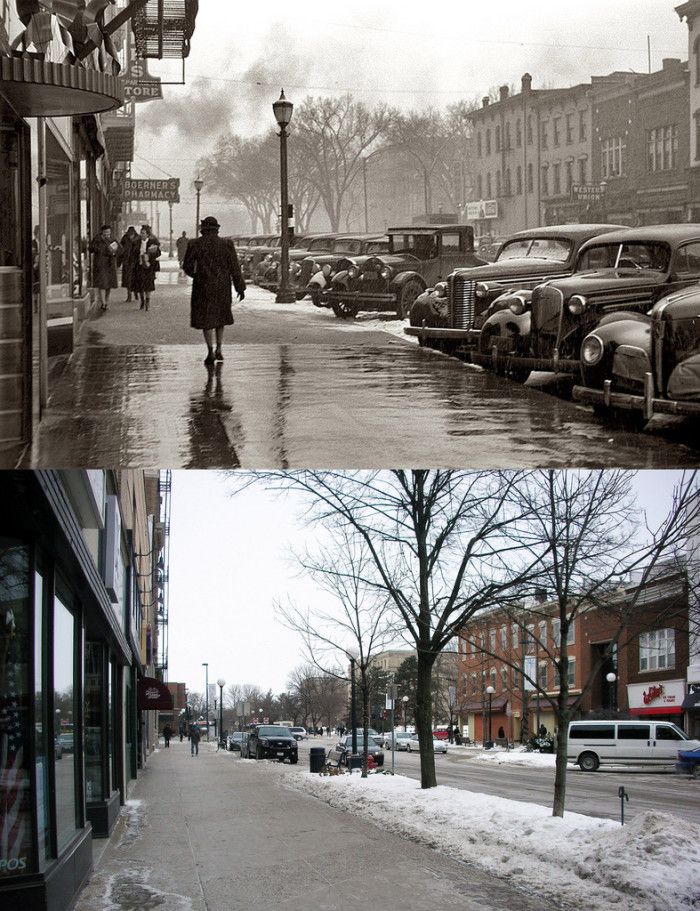 8. Dubuque St., Iowa City, 1940 and present