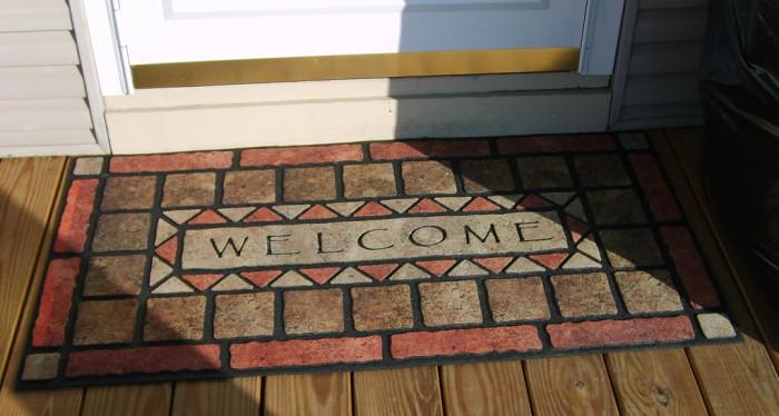 13. A welcome mat