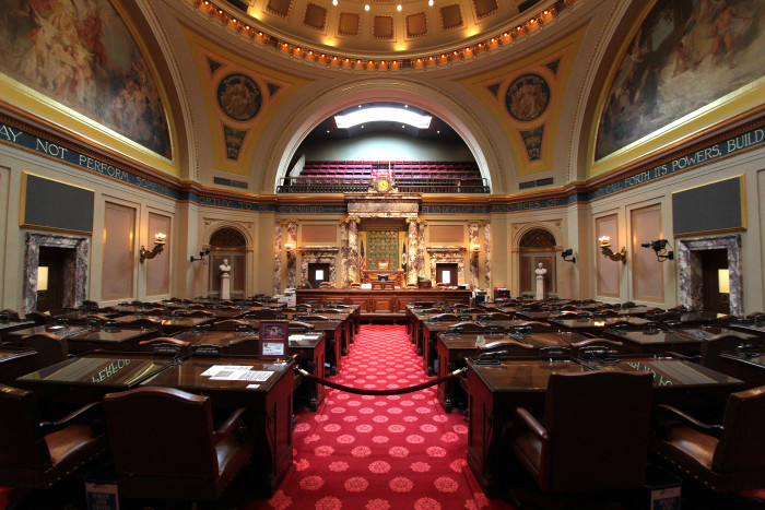 Now - The MN Senate Chamber looks spectacular.