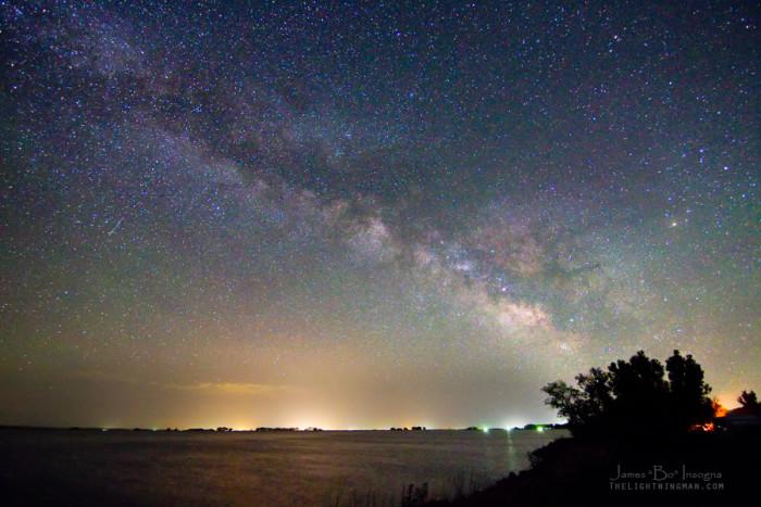 10.) Starry Night near Jackson Lake