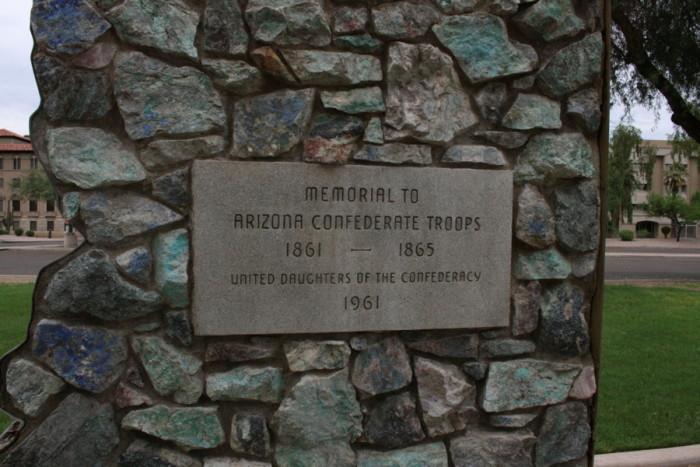 13. By the way, Arizona has a confederate history.